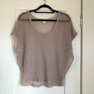 UO Staring at Stars Beige Netter Top